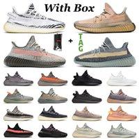 Yeezy Boost 350 v2 Yeezys Yezzy Kanye West Mit Box  Schuhe Authentische Turnschuhe Herren Damen Laufschuhe Big Size Us 13 Yezzy Yeezys Cinder Ash Blue Männer Frauen EUR 36-48