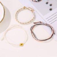 Charm Bracelets 3pcs Set Bohemia Sunflower Daisy Bracelet For Women Girls Goth Fashion Boho Jewelry