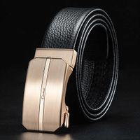 Ciarduar Gürtel für Männer Echtes Leder Casual Hohe Qualität Gürtel Designer Gürtel Automatische Schnalle Luxus Taille Gold Gürtel Herren Q0630