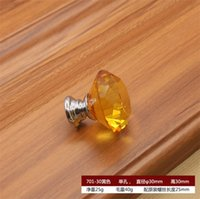 Kitchen And Pulls Knobs Cabinet Drawer Door Handle Glass Furniture 30mm Knob Diamond Handles Screw Knobs Crystal ZZE6155