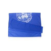 Prezzo di fabbrica all'ingrosso 100% poliestere 90x150cm 3x5 fts la bandiera delle Nazioni Unite Bandiera International Organizzazione Decorazione bandiera OOD5671