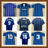 Ретро Atalanta 1991 1996 1997 Футбол Футбол ИНЗАГИ Лентини Классический футбол Старинный футбол CamiSeta Рубашка Kit Maillot