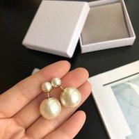 Multi Style 925 Argento Argento Orecchini New Fashion Pearl Ear Ear Plip di Alta Qualità Orecchini in ottone Gioielli Accessori alla moda