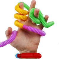 Decompression Mini tube Sensory Fidget Twist Tubes Toy Stress Anxiety Relief Squeeze Stretch Telescopic Bellows Pipe Finger Fun toys