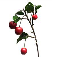 حزب الديكور 74 سنتيمتر 6 قطع النباتات الاصطناعية الفاكهة فرع طويل التفاح فروع التفاح وهمية التوت شجرة الأخضر يترك مكتب غرفة المعيشة ديكور المطبخ