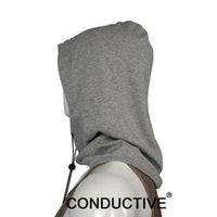 Partijhoeden Blokkeer EMF-bescherming Grijze hoedkap Anti-stralingsstof EMI en RF-afscherming Sliver