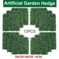 12pcs Pannelli artificiali BOBWOOD Pannelli Topiary Hedge Plant, Privacy Hedge Screen, UV Protected Fewery Greenery Tappetini adatti