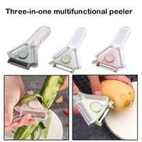 3 em 1 peeler Slicer Shredder Peeler Multi Aço Inoxidável Lâmina De Aço Granada Zéster Acessórios De Cozinha Peeling Tool GWB6671
