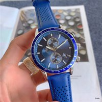 44mm size Six stitches All Dial working Mens Quartz Watch Luxury Watches With calendar Leather Strap Top Brand boss High Quality Fashion Men's gift