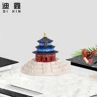Souvenir Temple of Heaven Model Artigianato metallico Domestico da tavolo Top Armadietto per vino Bninocie