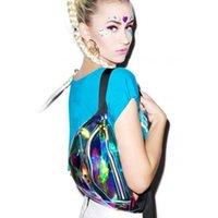 Rainbow Hologram PU Metallic Fanny Packs Laser PVC Transparent Waist Bag Fashion Sport Waist Bags Unisex Waterproof Chest Bag DH1096