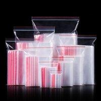 100 unids / Paquete 17 Tamaño Mini cremallera Bolsa transparente Pequeña Joyería de plástico Bolsa de medicina Reutilizable Cremallera Embalaje Bolsa de almacenamiento