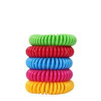 Mosquito Repellent Bracelet Elastic Bobine Spirale Spirale Bande de poignet Téléphone Anneaux Anti-Mosquito Silicone Bracelet MMA104