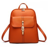 HBP high quality Soft leather Women Backpacks Large Capacity School Bags For Girl ShoulderBag Lady Bag Travel Backpack Brown
