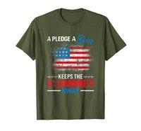 America Lover Tee Un gage par jour garde le t-shirt de Commies