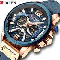 Tasarımcı İzle Marka Saatler Lüks İzle Erkekler Mavi Üst Askeri Deri Bilek Adam Saat Moda Chronograph Bilek