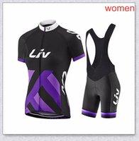 Womens Liv Pro Team Cycling Jersey Babero Babero Pantalones cortos Gel Pad Suit Ropa De Ciclismo Verano Summer Seco Quick Bike Ropa de Racing Set Y210409222