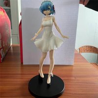 REM Farklı Bir Dünyada REM RIFE Sıfır Şeffaf Elbise PVC Action Figure Sevimli REM Koleksiyon Model 23 cm