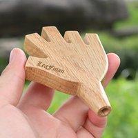 Shape de paume Niveau de bois Cinq 5 Cigarette articulaire Rolling Cone Fumer Porte-tuyau de Fumeur 8mm Roi Taille Taille Tuyau d'eau