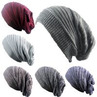 Invierno Cálido Layeed Relantado Overhead Stacked Cap Street Danza Hombra de lana de punto para mujeres