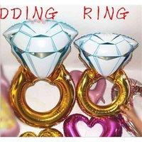 30inch43inch anello palloncini ampio anello diamante forma mylar palloncino partito palloncini metallizzati palloncini nuziale palloncino palloncini aerostato