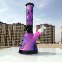 Acqua di vetro Bongs narghilè Tue tubo fumante Becher Base DAB STRS DAB BONG BONG GACK GACKER BUBBLEL DABBER Smoke con ciotola 14mm