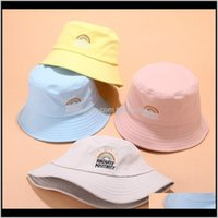 Ball Caps Rainbow Embroidery Fishermans Outdoor Sports Protection Folding Womens Sun Hat Cne Pptp0 3Siwm