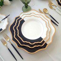 Kundenspezifische keramische Servierplatten für Hochzeitsporzellan-Ladespielplatten und -gerichte für Ereignis