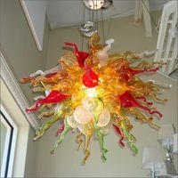 Люстры эль декор ручной вручную стеклянный люстр городской дизайн для столового топ украшения