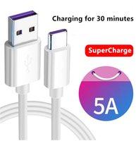 عالية السرعة 5A مايكرو USB كابل شاحن سريع نوع C شحن الكابلات 1 متر 2 متر لسامسونج s10 هواوي p30 p20 لايت xiaomi mi9