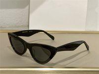 Gafas de sol para hombres y mujeres Estilo de verano Anti-Ultraviolet Retro Shield Lens placa de lente invisible marco de moda Caja aleatoria 40019