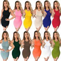Femmes Designers Vêtements Vêtements 2021 Robes Pure Robe Split Fashions au printemps et à la femme d'été Modèles Jupe Bormon