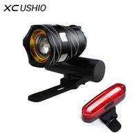 XC USHIO USB аккумуляторный светодиодный велосипедный велосипед освещает 15000LM T6 светодиодный велосипед передний фонарь горелки 3 режима велосипедных фар
