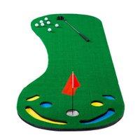 Мини-гольф качели, положить зеленый мужчина понравившись мат на открытом воздухе и внутреннее использование - идеально подходит для практикующих тренировок
