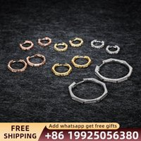 Hoop & Huggie Monaco Jewelry Polygonal Earring Big Earrings Fashion Sterling Silver 925 Couple Gift