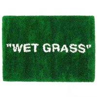 Casa húmedo hierba alfombra mojado hierba verde tendencia casero espeluznante muebles de piso de moda moda ki x vg conjunto markerad plush floor mat de parlor FWF10041