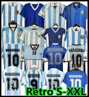 Retro 1986 1998 Argentinien Fußball Jersey Messi Maradona Caniggia 1978 1996 Newells Old Boys Vintage Football Hemd Batistuta Riquelme 2006 1994 Ortega Crespo