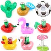 Decoração Do Partido Decoração Titular De Cup de Nadar Swim Ring Toys Toys Party Bebida Barcos Bebê Piscina Inflável Bebida Barra Coasters GWF8509
