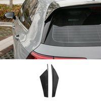 Fit For VW Golf MK8 2020-2021 ABS Carbon Fiber Rear Trunk Both Spoiler Wing Flap