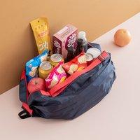Storage Foldable Shopping Bags Large Eco-Friendly Reusable Portable Shoulder Handbag Waterproof Travel Tote Bag 882 B3
