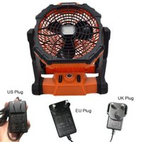 Electric Fans EU US UK Plug 10inch 14400mAh Battery Operated Powered Fan Personal Desk Rechargeable Tent U1JE