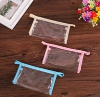 Take in Old Cobbler PVC plastic cosmetic bag Tote Transparent zipper pouch Custom size packaging bags Convenient