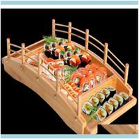 Kitchen Tools Kitchen, Dining Bar Home & Garden Japanese Wooden Wood Cuisine Bridge Boats Pine Creative Sashimi Plate Platter Sushi Tablewar