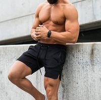 Chrleisure Sport Fashion Shorts Men Casual Solid Zip Pocket Men's Shorts Summer Fitness Seco rápido 64VZ #