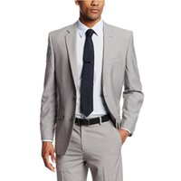 Men's Suits & Blazers Custom Made Two Buttons Wedding For Men Grooms Tuxedos Mens Slim Fit Beach Groomsmen (Jacket+Pants)