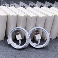 Ursprunglig laddningskabel 1m 2m USB-kabeldataöverföring Snabb laddning för iPhone-kabel med förpackningsbox