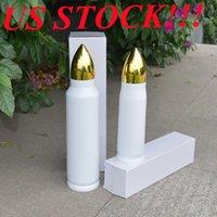 Yerel Depo !!! Süblimasyon Bullet Tumbler 17 oz 33 OZ Paslanmaz Çelik Su Şişeleri Yalıtımlı Tumbllers Vakum Şişeler Ev Seyahat Fincan Kahve Fincanları ABD Stoklar