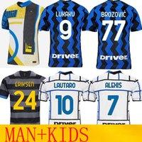 20 21 Inter Special Lukaku Lautaro Eriksen Soccer Jerseys de vrij 2021 Fußball-Hemd von Männer Kinder Uniform Mailand Hakimi Alexis Barella Maglietta da Calcio SD 4. Viertel