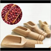Mini Wooden Scoops Bath Salt Detergent Powder Spoon Candy Laundry Tea Coffee Spoons Eco Friendly Wood Mi Jlljww Tgiyx Oivlz