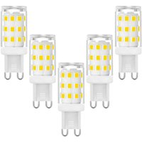 Lampen G9 LED-Birnen, 3W Halogenlampen, G9-Sockel Engergy-Rettungslampe, natürlich weiß, 360lm, AC 220-240V, 5 Packung